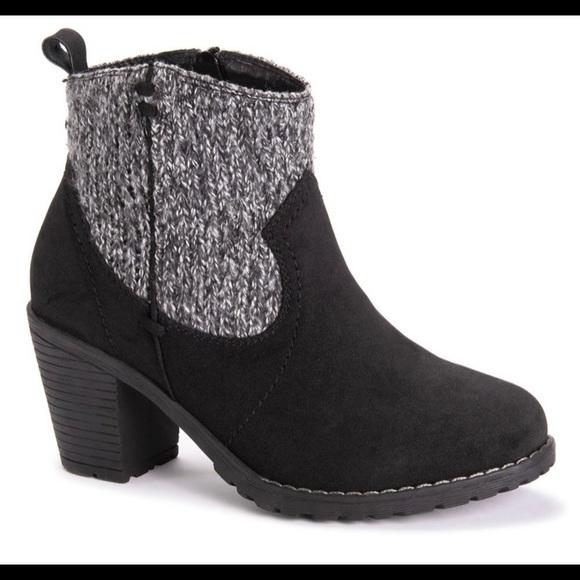 Muk Luks Black Rhodie Boot